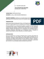Guia 3 Grado 7° Actividad de EDUFISICA 2do Periodo 11 de Mayo Año 2020.