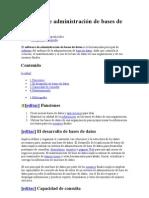 Software de administración de bases de datos