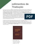 11 - Tradução 1 - 2012-10-17 - Procedimentos de Tradução