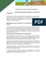"""Evidencia Diagrama """"Identificar el proceso de la preparación de un biofertilizante""""."""