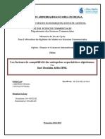 les facteurs des compétitivité des entreprises exportatrises- Fadila, Mariem.pdf