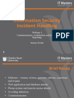 Week 1 An Introduction to Incident Handling