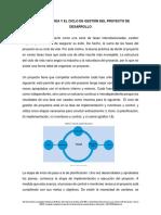 Ciclo de vida y el ciclo de gestion del proyecto de desarrollo