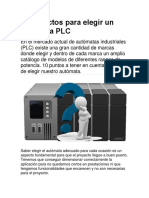 10 aspectos para elegir un autómata PLC
