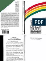 Max Lüscher. Test de los colores. Test de Lüscher. Paidós Psicometría y Psicodiagnostico