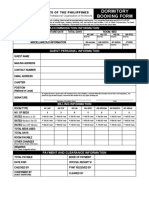 Use of UAP Dormitory - Application Form