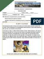 EVALUACION DE LENGUAJE  comprension de lectura segundo año 25-07 2019