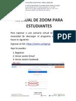 Manual de ZOOM - Estudiantes