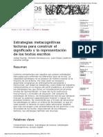 Estrategias metacognitivas lectoras para construir el significado y la representación de los textos escritos _ Puente _ Ocnos_ Revista de estudios sobre lectura