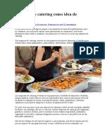 Empresa de catering como idea de negocio