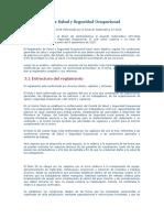 Reglamento de Salud y Seguridad Ocupacional