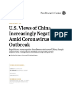 U.S. Views of China Increasingly Negative Amid Coronavirus Outbreak