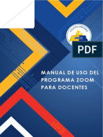 Manual de Uso de Zoom - DOCENTES - MAYO