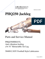 PHQS250JHMAVL Anti-Vibration Jackleg Parts and Repair Manual