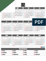 2021 Printable Calendar Holidays Yearly