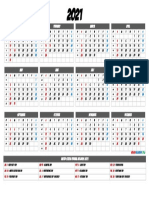 Download 2021 Printable Calendar with Holidays