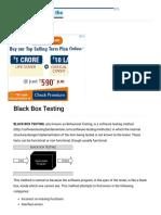 Black Box Testing - Software Testing Fundamentals