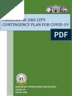 CDO COVID-19 CONTINGENCY PLAN - SET - APRIL 2020