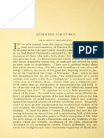 Mysticism and Ethics.