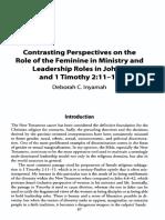 Contrasting perspectives of Feminine Ministry John vs 1 Tim.pdf