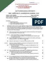 Mba - Semester - 4th- Gujarat Technological University