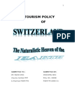 Swiss tourism & its policy