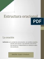 Estructura oracional