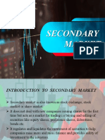 Ppt on Secondary Markets