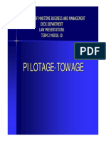 PILOTAGE AND TOWAGE