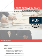 NCFA - A National Arts Recovery Plan 2020