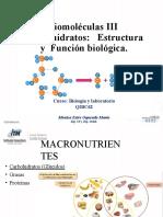 Biomoleculas III (Carbohidratos, metabolismo, Ciclo de Krebs)(1).pptx