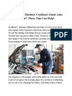 Bradford L. Huebner Confused About Auto Repair These Tips Can Help