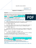Assignment #4 Probability