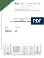 Pressure Test & Test Pack Management