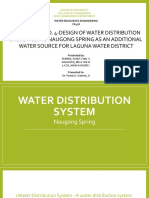 Case Study No. 4-Design of Water Distribution System Using Naugong Spring as an Additional Water Source for Laguna Water District