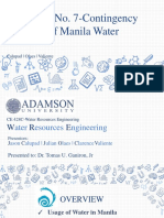 Case Study No. 7- Contingency Plan of Manila Water