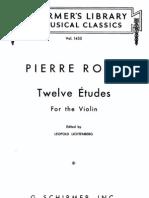 IMSLP05379-Rode - 12 Etudes Violin Solo