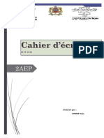 Cahier décriture 2 AEP
