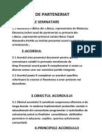 ACORD DE PARTENERIAT