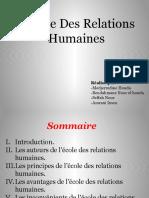 Ecole Des Relation humaine