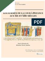 les femmes de la cour à Byzance