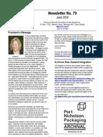 ARANZ Newsletter No 79 June 2010