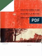 Hoe modern is de Nederlandse architectuur