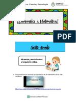 ACTIVIDADES - 6° - NÚMERO GRANDES Y RESOLUCIÓN DE PROBLEMAS
