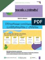Actividades de 6° grado - situaciones problemáticas multiplicación y división
