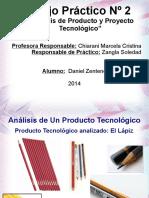 Analisis tecnologico de producto  LAPIZ