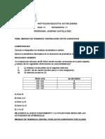 GUIA Nº4  GRADO 11 MEDIDAS DE TENDENCIA CENTRAL PARA DATOS AGRUPADOS