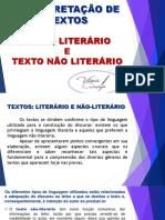 -APOSTILA- Aula 03 - Texto Literário - Texto Não Literário