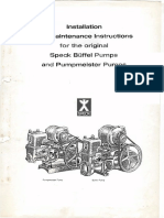 Speck Pump Installation and Maintenance Instructions