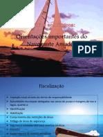 Seminarios academicos- Orientações importantes do Navegante Amador
